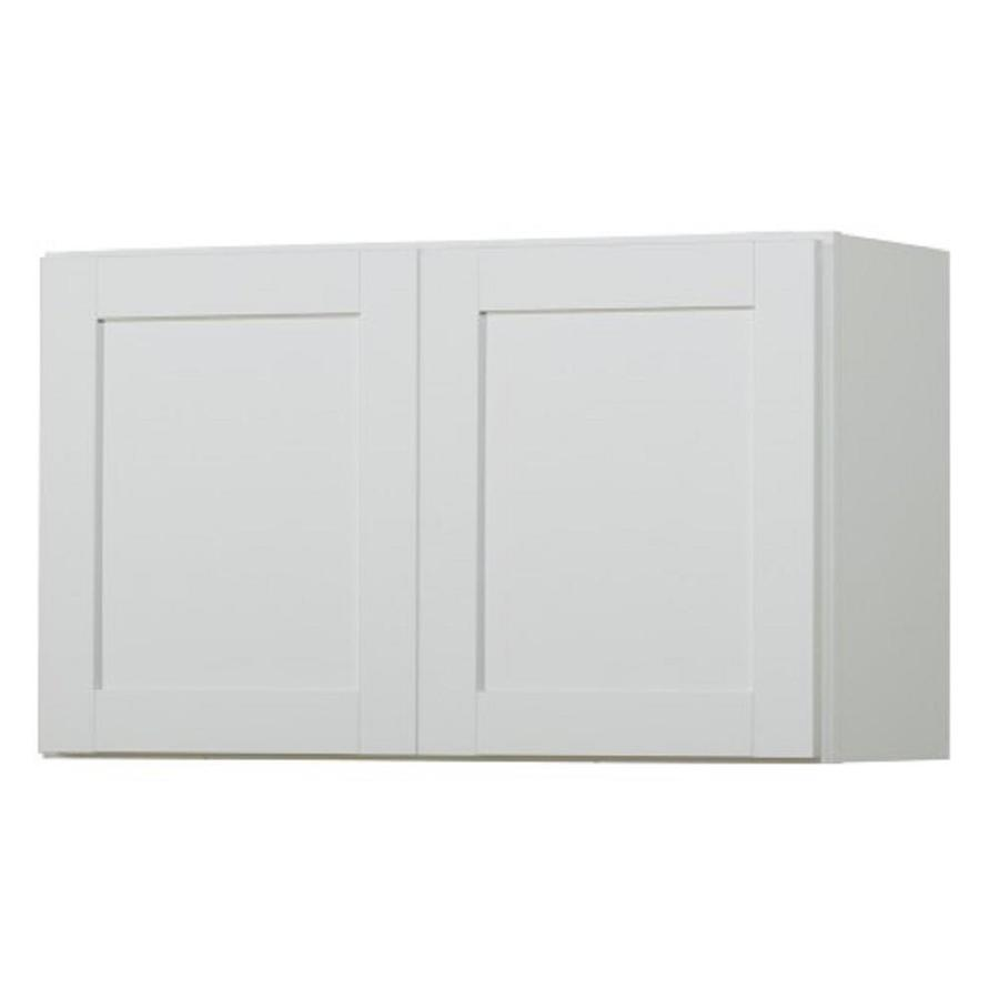 In X 12 In Arcadia White Double Door Kitchen Wall Cabinet At