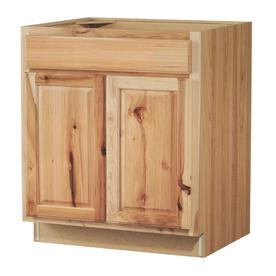 Kitchen Classics Denver 30-in W x 35-in H x 23.75-in D Finished Hickory Door and Drawer Base Cabinet