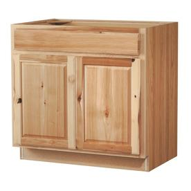 Kitchen Classics Denver 36-in W x 35-in H x 23.75-in D Hickory Door and Drawer Base Cabinet