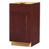 Kitchen Classics 35-in H x 18-in W x 23-3/4-in D Merlot Door and Drawer Base Cabinet
