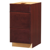 Kitchen Classics 35-in H x 18-in W x 23-3/4-in D Merlot Drawer Base Cabinet