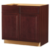 Kitchen Classics 35-in H x 36-in W x 23-3/4-in D Merlot Sink Base Cabinet