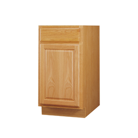 Kitchen Classics 34.5-in H x 18-in W x 24-in D Oak Door and Drawer Base Cabinet