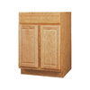 Kitchen Classics 34.5-in H x 24-in W x 24-in D Oak Door and Drawer Base Cabinet