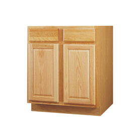 Kitchen Classics 34.5-in H x 36-in W x 24-in D Oak Door and Drawer Base Cabinet