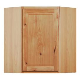 Kitchen Classics Denver 24-in W x 30-in H x 12-in D Finished Hickory Corner Kitchen Wall Cabinet
