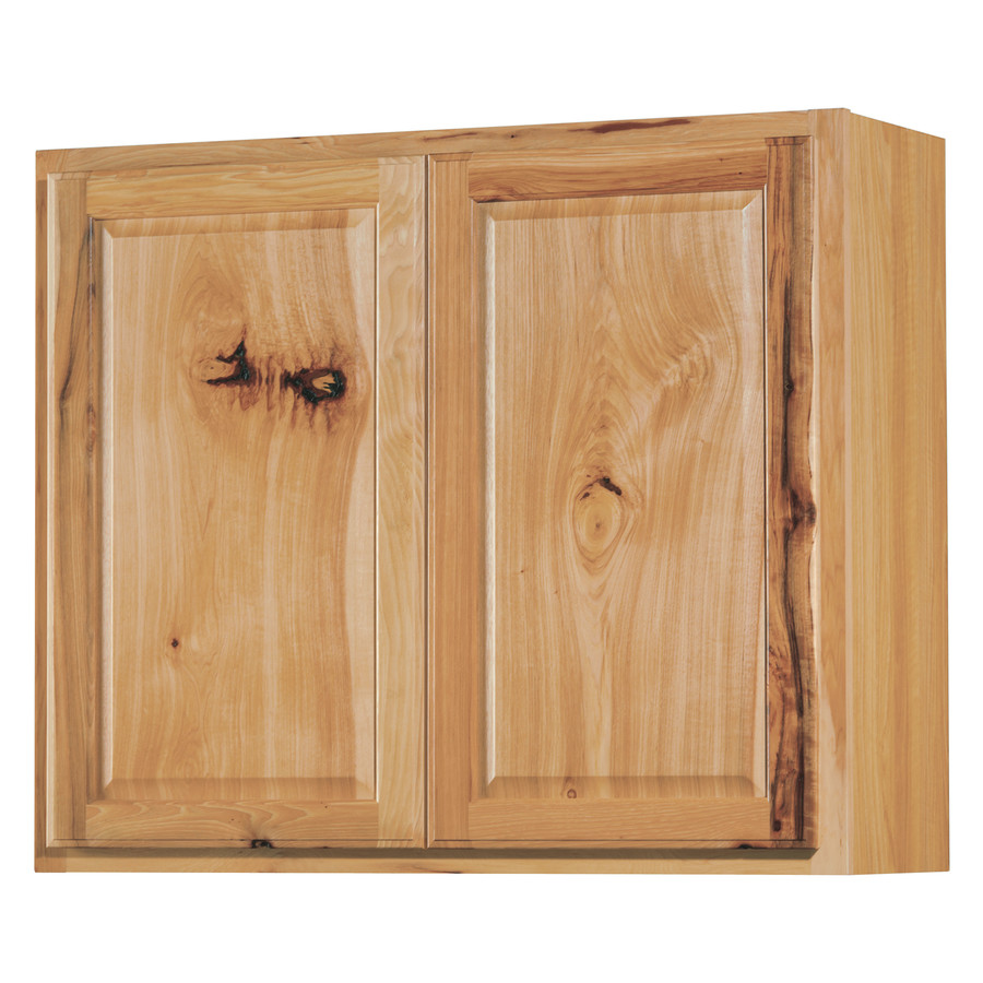 12 In Denver Hickory Double Door Kitchen Wall Cabinet At