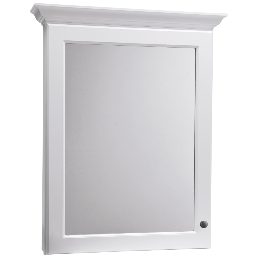 30 in x 37 in white surface mount medicine cabinet at
