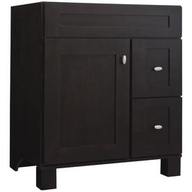 allen + roth Palencia 30-in x 21-in Espresso Contemporary Bathroom Vanity