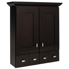 allen + roth Palencia 29-in H x 25-in W x 7-1/2-in D Espresso Wall Cabinet