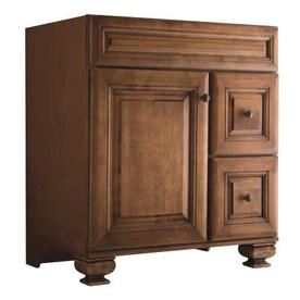 Diamond Fresh Fit Ballantyne Mocha with Ebony Glaze Traditional Bathroom Vanity (Common: 30-in x 21-in; Actual: 30-in x 21-in)