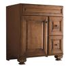 allen + roth Ballantyne 30-in x 21-in Mocha with Ebony Glaze Traditional Bathroom Vanity