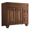 allen + roth Ballantyne 36-in x 21-in Mocha with Ebony Glaze Traditional Bathroom Vanity