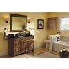 Diamond Fresh Fit Ballantyne Mocha with Ebony Glaze Traditional Bathroom Vanity (Common: 48-in x 21-in; Actual: 48-in x 21-in)