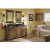 Diamond Fresh Fit Ballantyne Mocha with Ebony Glaze Traditional Bathroom Vanity (Common: 60-in x 21-in; Actual: 60-in x 21-in)