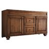 allen + roth Ballantyne 60-in x 21-in Mocha with Ebony Glaze Traditional Bathroom Vanity