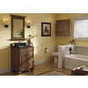 allen + roth Ballantyne Mocha with Ebony Glaze Traditional Bathroom Vanity (Common: 24-in x 21-in; Actual: 24-in x 21-in)