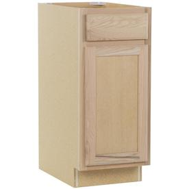 Kitchen Classics 15-in W x 35-in H x 23.75-in D Unfinished Oak Door and Drawer Base Cabinet