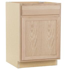 Kitchen Classics 24-in W x 35-in H x 23.75-in D Unfinished Oak Door and Drawer Base Cabinet