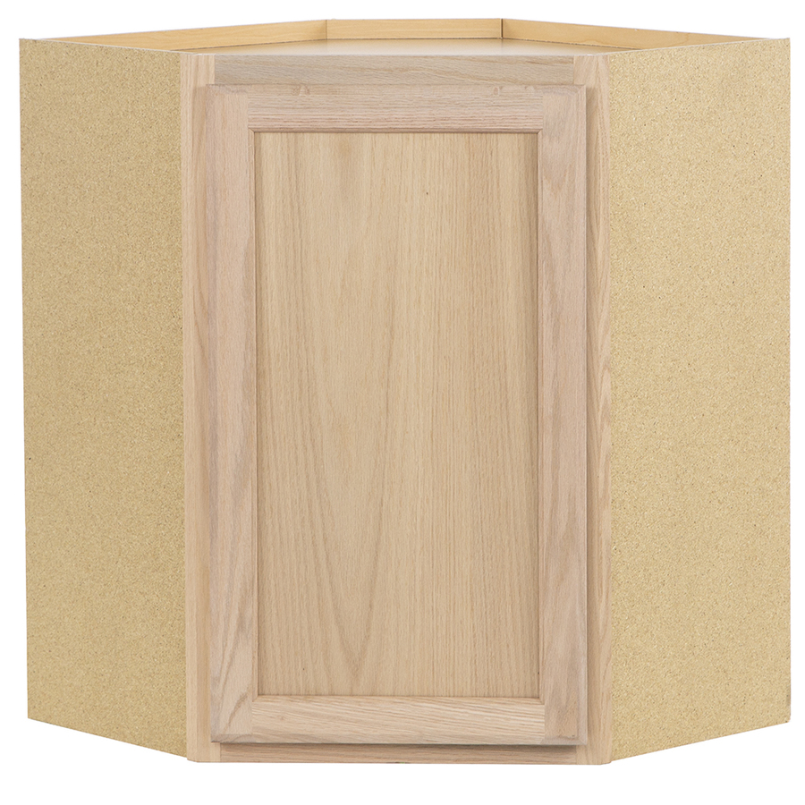 Shop kitchen classics 30 in x 24 in x 12 in oak corner for Corner kitchen cabinet