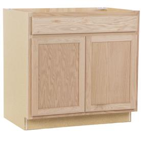 Kitchen Classics 36-in W x 35-in H x 23.75-in D Unfinished Unfinished Oak Sink Base Cabinet