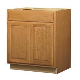 Kitchen Classics Portland 30-in W x 35-in H x 23.75-in D Wheat Oak Sink Base Cabinet