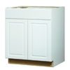Kitchen Classics Concord 30-in W x 35-in H x 23.75-in D Finished White Sink Base Cabinet