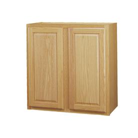 Kitchen Classics 30-in H x 36-in W x 12-in D Portland Oak Double Door Wall Cabinet