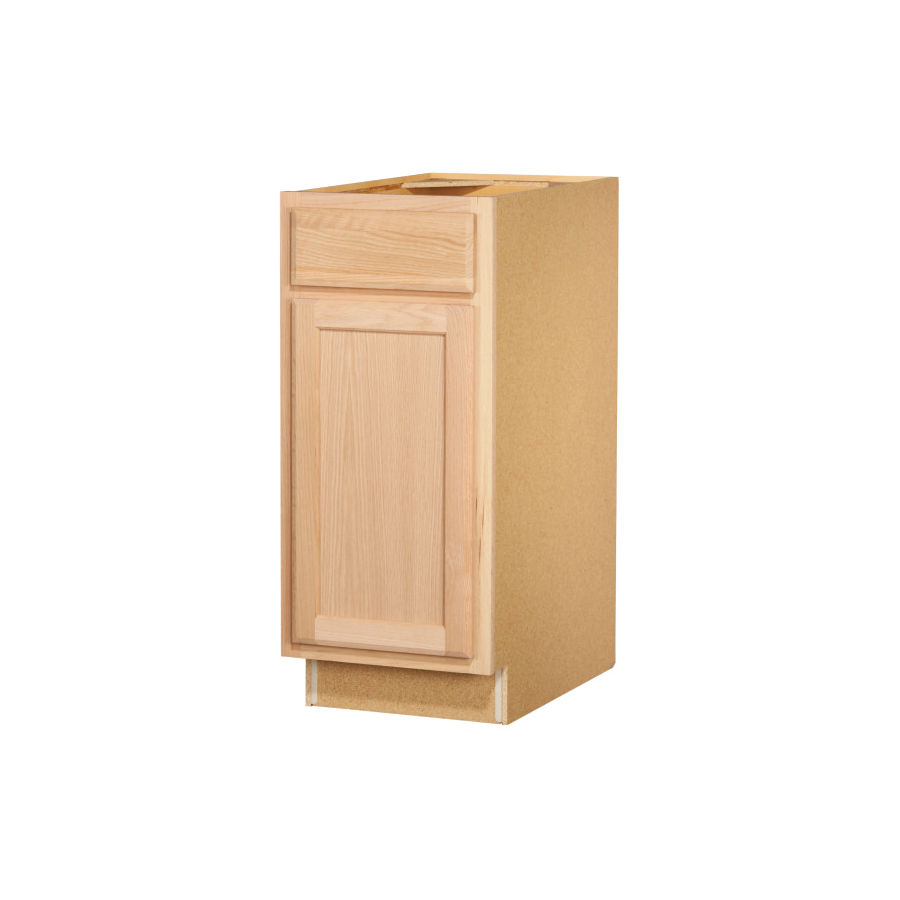 In X Unfinished Oak Door And Drawer Base Cabinet At
