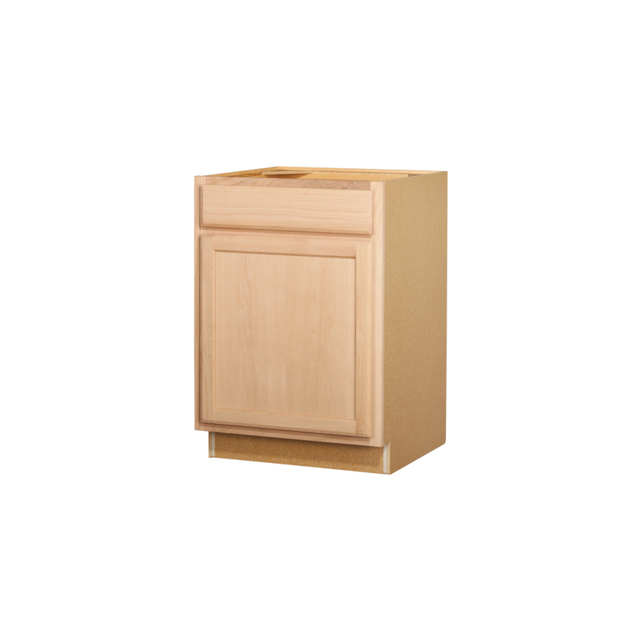 Shop Kitchen Classics 35 In X 24 In X Unfinished Oak Door And Drawer Base Cabinet At