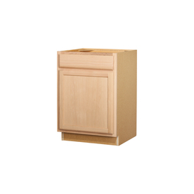 In x 23 75 in unfinished oak door and drawer base cabinet at lowes com