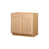 Kitchen Classics 36-in W x 35-in H x 23.75-in D Unfinished Oak Sink Base Cabinet
