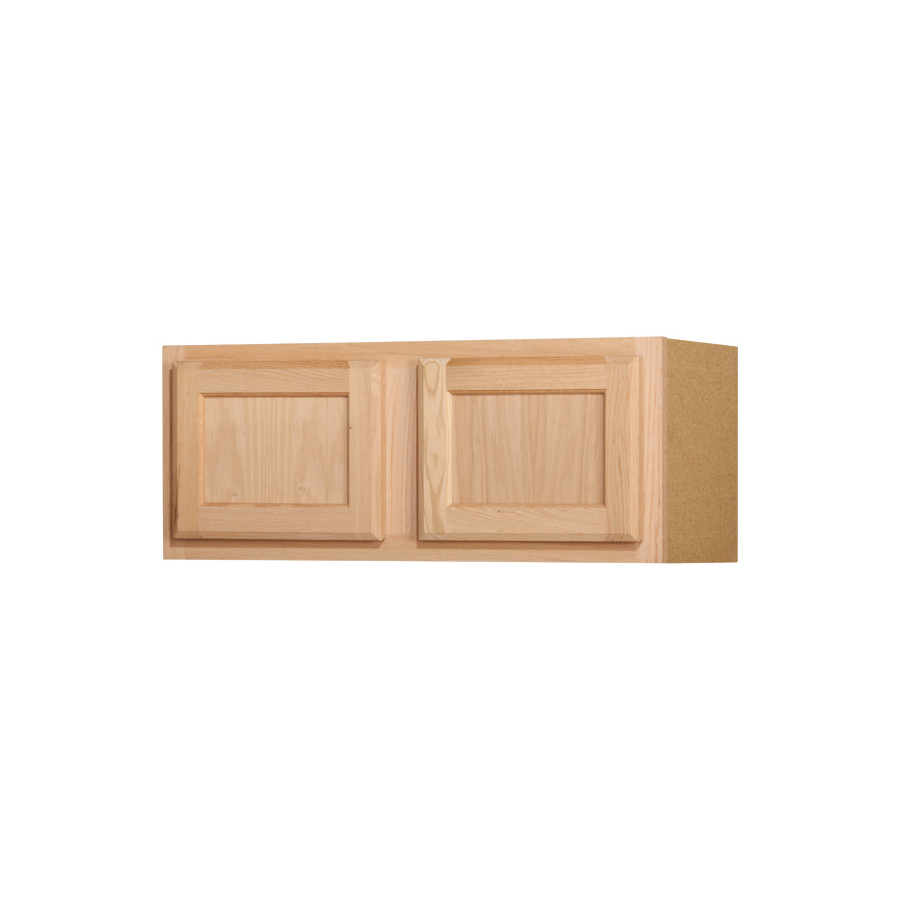 12 In Oak Unfinished Double Door Kitchen Wall Cabinet At