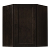 Kitchen Classics Brookton 24-in W x 30-in H x 12-in D Finished Espresso Birch Corner Kitchen Wall Cabinet