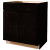 Kitchen Classics Brookton 30-in W x 35-in H x 23.75-in D Finished Espresso Birch Sink Base Cabinet