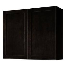 Kitchen Classics Brookton 36-in W x 30-in H x 12-in D Espresso Birch Shaker Door Wall Cabinet