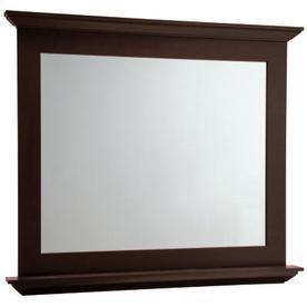 allen + roth Palencia 42-in W x 34-in H Espresso Rectangular Bathroom Mirror