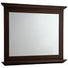allen + roth 34-in H x 42-in W Palencia Espresso Rectangular Bathroom Mirror
