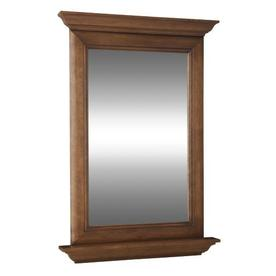 allen + roth Ballantyne 25-in W x 34-in H Mocha with Ebony Glaze Rectangular Bathroom Mirror
