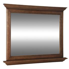 allen + roth Ballantyne 42-in W x 34-in H Mocha with Ebony Glaze Rectangular Bathroom Mirror