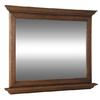 allen + roth 34-in H x 42-in W Ballantyne Mocha Ebony Glaze Rectangular Bathroom Mirror