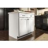 Kitchen Classics Caspian 18-in W x 35-in H x 23.75-in D Toasted Antique Door and Drawer Base Cabinet
