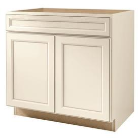 kitchen classics 36 in caspian white sink base cabinet at