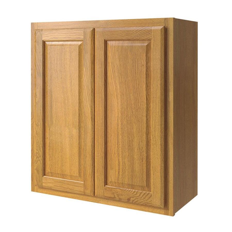 Shop Kitchen Classics 27 In W X 30 In H X 12 In D Finished Portland Oak Double Door Kitchen Wall