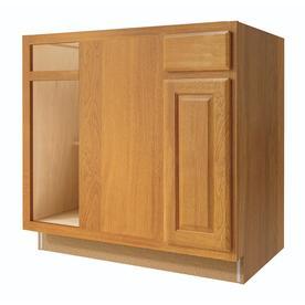 Kitchen Classics 36-in W x 35-in H x 23.75-in D Finished Portland Oak Blind Corner Base Cabinet