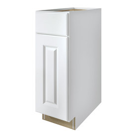 Kitchen Classics Waterford 12-in W x 35-in H x 23.75-in D Finished White Door and Drawer Base Cabinet