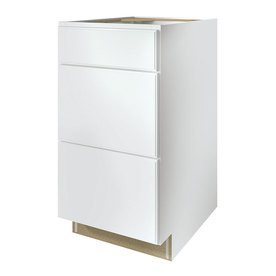 Kitchen Classics Waterford 18-in W x 35-in H x 23.75-in D Finished White Drawer Base Cabinet