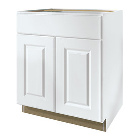 35 in h x d finished white sink base cabinet at