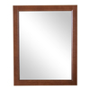 Style Selections Euro Style 21.9-in W x 27.4-in H Russet Rectangular Bathroom Mirror
