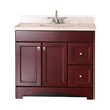 Style Selections Clementon Cherry Integral Single Sink Bathroom Vanity with Cultured Marble Top (Common: 36-in x 19-in; Actual: 36.5-in x 18.7-in)